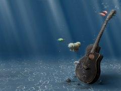 Guitarinwater